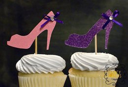 Wholesale Bridal Shower Shoes - Wholesale- Glitter Shoes cupcake toppers Bridal Showers, Sweet 16, Wedding, Theme Birthdays decorations wedding toothpicks