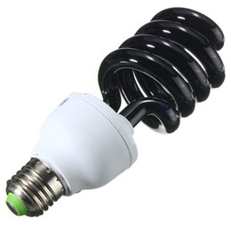 Wholesale Fluorescent Cfl Bulbs - Wholesale- Top Quality E27 Spiral Energy Saving 15 20 30 40W UV Ultraviolet Fluorescent Black Light CFL Violet Light Bulb Lamp DC12V