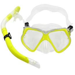 Wholesale Adult Snorkel Mask - Wholesale-ELOS-Adult Glass PVC Swimming Swim Diving Scuba Anti-Fog Goggles Mask & Snorkel Set