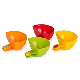 Wholesale Dips Bowl - Set of 4,Assorted Dip Clips Plate Grab Clip-on Dip Holders Tomato Sauce Salt Vinegar Flavor Spices Plate Bowl Cont
