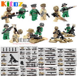Kitoz MOC 12pcs Seconde Guerre mondiale USA Army Special Forces Mini Toy Figurines d'action avec mortier Military Building Blocks Bricks Gift Toy for Boy à partir de fabricateur