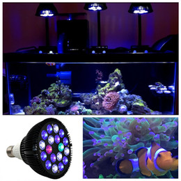 Wholesale Led Tank Lighting - 18W LED Aquarium Light Bulb PAR38 E27 6-Band Full Spectrum for Coral Reef Fish Tank Plant Growth Suit for Nano Tank
