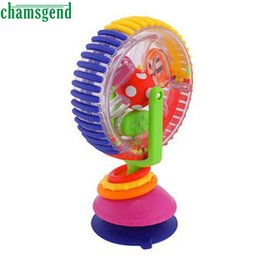 Wholesale Carts For Children - Wholesale- CHAMSGEND Baby cart chair sucker around Ferriswheel rotating Windmill bell Toys for Children kids Toy High Quality WOct24
