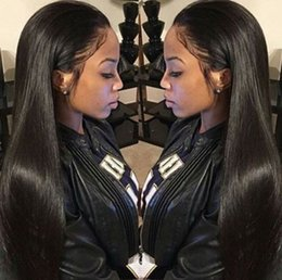 Wholesale Ladies Short Wigs - Lace Front Human Hair Wigs Peruvian Virgin Hair Front Lace Wigs Straight Full Lace Human Hair Wigs For Black Women