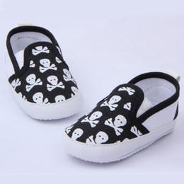 Wholesale Infant Boy Skull Shoes Wholesale - Wholesale- Lovely Baby Boys Girls First Walkers Shoes Skull Toddler Soft Sole Antislip Kids Infant Shoe 0-12 Months