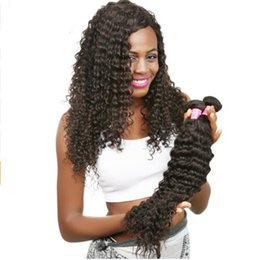 Wholesale Brazilian Hair Salon - Salon Brazilian Kinky Curly Virgin Hair 3Pcs lot Brazilian Hair Weave BundlesTop Quality Deep Curly Hair 100% Human Unprocess Rayol Quality