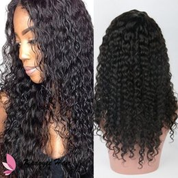 Wholesale Jerry Curl Lace Wig Human - Brazilian 8A Virgin Human Hair Wigs Kinky Curly Lace Frontal Human Hair Wig Peruvian Indian Jerry Curl Glueless Lace Wig Free Shipping
