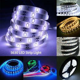 Wholesale Rgb Led Lights 18w - SMD5630 Led Strips Lights High Bright DC12V Strips RGB 60led m 5m roll led Lights Strips for decoration