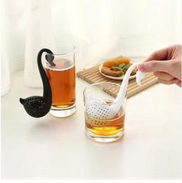 Wholesale Swan Leaf - Hot sale Tea infusers plastic Strainer Herbal Spice Infuser Filter Tools Swan Design Loose Tea Leaf Strainer G-6 free shipping TOP1500