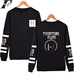 Wholesale Wholesale Designers Clothes - Wholesale- LUCKYFRIDAYF Twenty One Pilots Hoodies Capless Men Brand Designer Mens Sweatshirt 21 Pilots Sweatshirt Men's Hooded Clothes