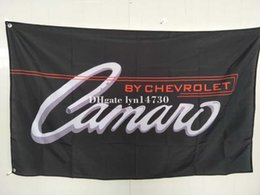 Wholesale Performance Logos - Chevrolet Camaro BLACK logo flag,Performance Cars,Chevrolet banner,90150 CM polyester flag king car logo flag