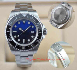 Wholesale Mens Sapphire Automatic Watch - 2017 Hot seller Luxury Men's SEA-DWELLER Ceramic Bezel 44mm Stanless Steel Clasp 116660 Automatic High Quality Business Casual mens Watches