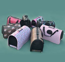 Wholesale Wholesale Pet Bags - Single shoulder foldable pet bag Outing Travel portable bag ventilation fashion dog cat carrying bag free shipping