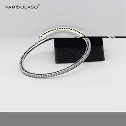Wholesale Cuff Link Original - Wholesale- Twinkling Forever Charm Bangle Bracelet New Fashion Original 925-Sterling-Silver Bracelets & Bangles for Women Jewelry Making