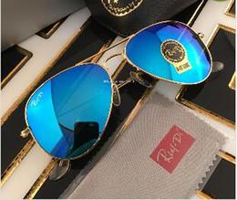 Wholesale Red Man Flash Drive - Brand Designer Sunglasses Classic Pilot Style Driving Coating Sunglasses UV Protection Metal Frame Flash Mirror Glass Lenses 58mm 62mm