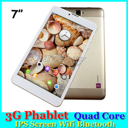 Wholesale Tablet Support Phone Calls - 3G Phablet 7 inch SC7730 Quad Core IPS Multi Touch Screen 512MB 8GB Tablet PC Phone Call Android 5.1 Support Wifi Bluetooth
