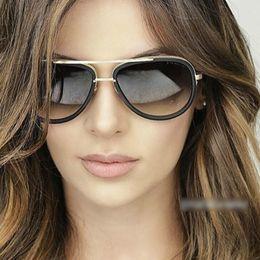 Wholesale Ladies Green Coats - Wholesale-Fashion Sunglasses Women Sun Glasses 2016 Luxury Brand Designer For Ladies UV400 Coating Mirror Lens Female Vintage Oculos RS229