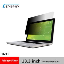 Wholesale Laptop Screens China - 3M Quality 13.3 inch PET Material Laptop screen Privacy Filter for MacBook Air 16:10 Computer Screen Filter 286mm*179mm