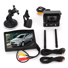"Wholesale Truck Rear View Camera Wireless - Wireless Ir Night Vision Rear View Back up car Camera System+5"" Monitor for RV Truck Trailer Bus"