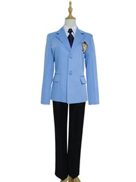 Anime menino uniforme on-line-Malidaike Anime Ouran High School Host Club Menino Terno Top Blazer Uniforme Cosplay Unisex Custume-made Uniforme