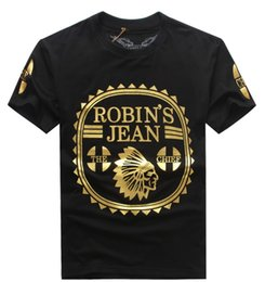 Wholesale Hot Sell Men Jeans - Hot Selling 2017 New Robin T-shirt Mens robin jeans shirts Man Tshirt Robins men bottoming robins shirt t shirt tops puls size 3XL