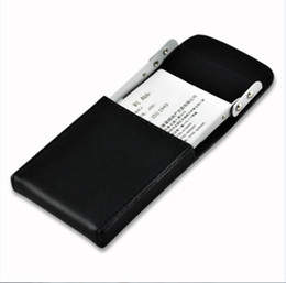 Wholesale Credit Card Storage - Business Card Case Holder Genuine Leather Name Card Holder with Delicate Storage Bag For Men Women