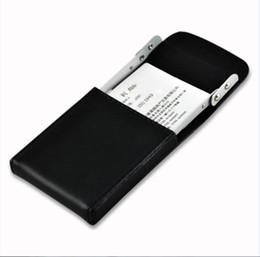 Wholesale Man Name Card Holder - Business Card Case Holder Genuine Leather Name Card Holder with Delicate Storage Bag For Men Women