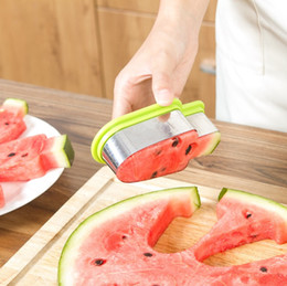 Cortadoras de verduras online-DIY creativo multifuncional sandía Slicer cortador de la fruta del molde de la cocina Chopper herramientas de bricolaje Vegetable Fruit Slicers