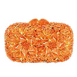 Großhandels-Blumen-Muster-Abend-Beutel-blaue Luxuskristall-orange Abend-Handtaschen-Golddiamant-Partei-Geldbeutel-Silber-Banketttasche 88165 von Fabrikanten