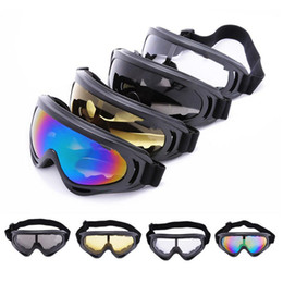 Wholesale Full Motor Sport - X400 UV Protection Outdoor Sports Ski Snowboard Skate Goggles Motorcycle Off-Road Cycling Goggle Glasses Eyewear Lens Motor Sunglasses