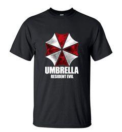 Wholesale umbrella sleeves - Men's Resident Evil Umbrella Printed T-shirts High Quality Short Sleeve O-Neck T Shirt Summer Streetwear Hip Hop Tops Tees