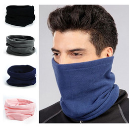 Wholesale Fleece Beanie Hats - 1PC Hot NEW Fashion Unisex Women Men Winter Autumn Casual Thermal Fleece Scarfs Snood Neck Warmer Face Mask Beanie Hats