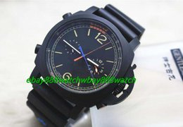 Wholesale Mechanical Chrono - PAM526 REGATTA 47mm TITANIUM CHRONO FLYBACK 1950 00526 Ltd Ed Black Automatic Men's Watch Watches