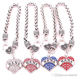 Wholesale Wholesale Leather Custom Box - Custom new alloy Lady fashion jewelry Europe and the United States NANA peach heart diamond bracelet jewelry Yiwu Small Commodities