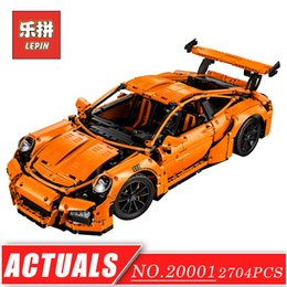 Wholesale Boys Christmas Toys - New LEPIN 20001 technic series super Race Car Model Building Kits Blocks Bricks Compatible 42056 Boys christmas Gift Educational Toys