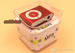 Wholesale Cheap Boxed Cards - Mini Clip MP3 Player - HOT sell Cheap Colorful Sport mp3 Players Come with Earphone, USB Cable, Retail Box, Support Micro SD TF Cards