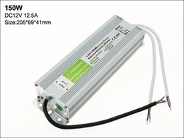 Wholesale Led Driver Watt - Free Shipping Waterproof LED Strip Light 150 Watt Power Supply, 110V AC to 12V DC Transformer, Low Voltage LED Tape Light Driver