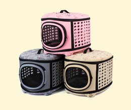 Wholesale Dog Crates Free Shipping - Pet Travel Carrier large dogs and cats Bag Folding Portable Breathable outdoor carrier pet Bag transportin Shoulder Backpack free shipping