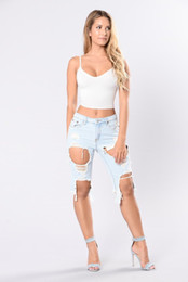 Wholesale Short Denim Broken - Women Hole Jeans 2017 Summer New Fahison Beggars Pants Broken Denim Shorts