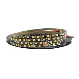 Wholesale 5mm Led 12v - Eyoumy 120LEDs M 5mm Black PCB 5M 600 LED Strip Light 12V 2835 SMD Flexible Decor Lamp Tape Robbin for Home Lighting