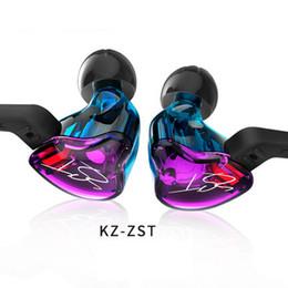 Wholesale Xiaomi Earphones - KZ ZST HIFI Headphones with Heavy Bass and Noise Isolating Ear Hook Sports Headsets High Sensitivity HD Earphones For Samsung IPhone Xiaomi