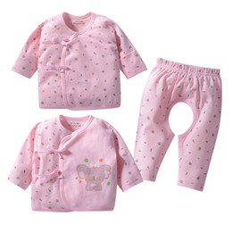 Wholesale kimono pants - 3 Pieces  Set Baby Cotton Suit Set Cartoon Koala Long Sleeve Tie Kimono Tee and Open-crotch Pants Spring Autumn Baby Outfit