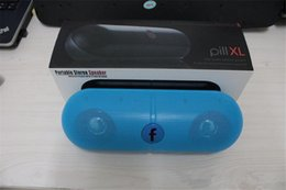 Wholesale Pill Speaker Dhl - XL Bluetooth Speaker Pill XL with Retail Box Black white red blue Color hot selling speaker free DHL
