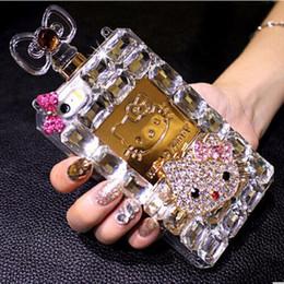 Wholesale Cute Perfume Bottles - 08 Luxury Rhinestone Cute Handmade Perfume Bottle Phone Protect Back Cover Cellphone Case For Samsung Galaxy iPhone 5 5s 6 6 Plus 7 7 Plus