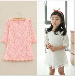 Wholesale Korean Bodycon Skirt - South Korean children's wear sleeve lace dress in girls Children dress foreign trade hot style girl's skirt baby girls hotsale dress