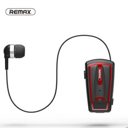 Wholesale Ear Clips Headphones - Remax RB-T12 Wireless Headphones Bluetooth V4.0 Clip-on Headsets in-Ear Retractable Wear Business Stereo Headset For iPhone Xiaomi