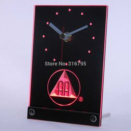 Wholesale Aa Alarms - Wholesale-tnc0134 Alcoholics Anonymous AA Beer 3D LED Table Desk Clock