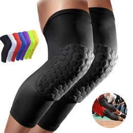 Wholesale Honeycomb Sock Sport Safety Basketball Sports Kneepad Padded Knee Brace Compression Knee Sleeve Protector Knee Pads