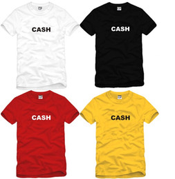 Wholesale Funny Spoof - Hot WISHCART CASH MONEY Letter Printed spoof creative funny T Shirt Men T-shirt Mens 2016 Short Sleeve Cotton Tshirt Tee Camisetas Hombre