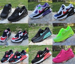 Wholesale Sports Casual Shoes Mens - 2017 new Mens Sneakers Shoes classic 90 Men and women casual shoes Black Red White Breathable Sports Shoes